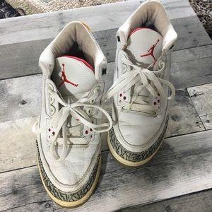 Men's air Jordan's 2011 release 3 retro sneakers